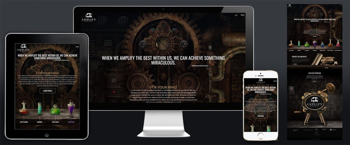 Image of Amplify Website Example.