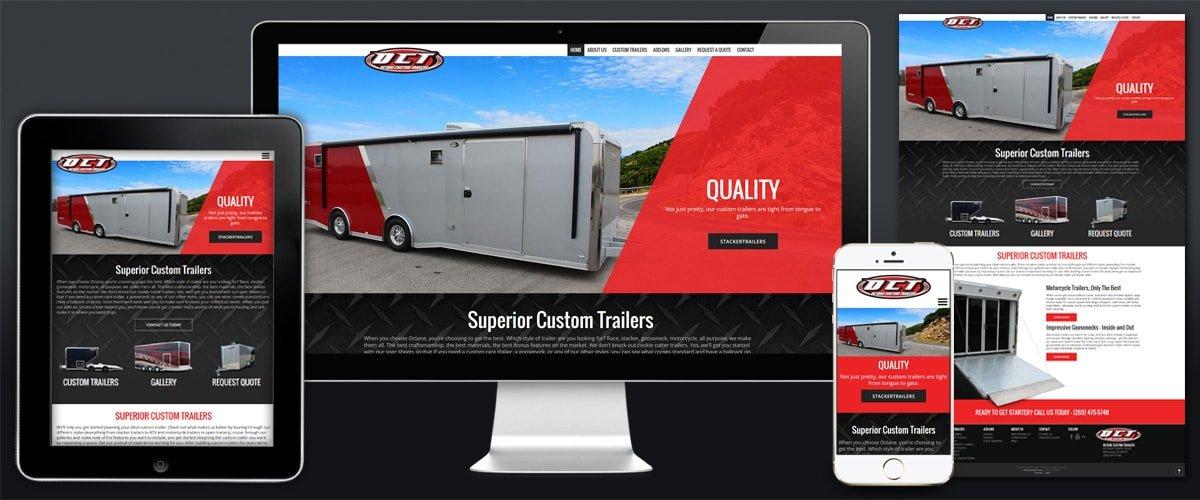 Image of Octane Website Example.